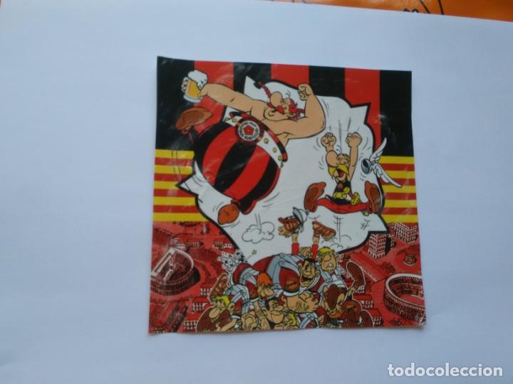 PEGATINA ADHESIVO PUBLICIDAD REDBLACKS SUPPORTERS REUS ASTÉRIX Y OBÉLIX (MIDE 13.9 X 13.7 CM) (Coleccionismo Deportivo - Merchandising y Mascotas - Futbol)