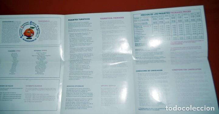 Coleccionismo deportivo: PUBLICIDAD PAQUETES TURÍSTICOS MUNDIESPAÑA 82 CAMPEONATO MUNDIAL FÚTBOL ESPAÑA 82 - CALENDARIO - - Foto 2 - 173571795