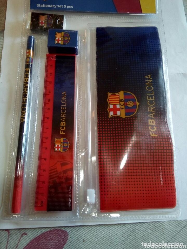 Coleccionismo deportivo: SET DE PAPELERÍA DEL F.C.BARCELONA - Foto 4 - 173775993