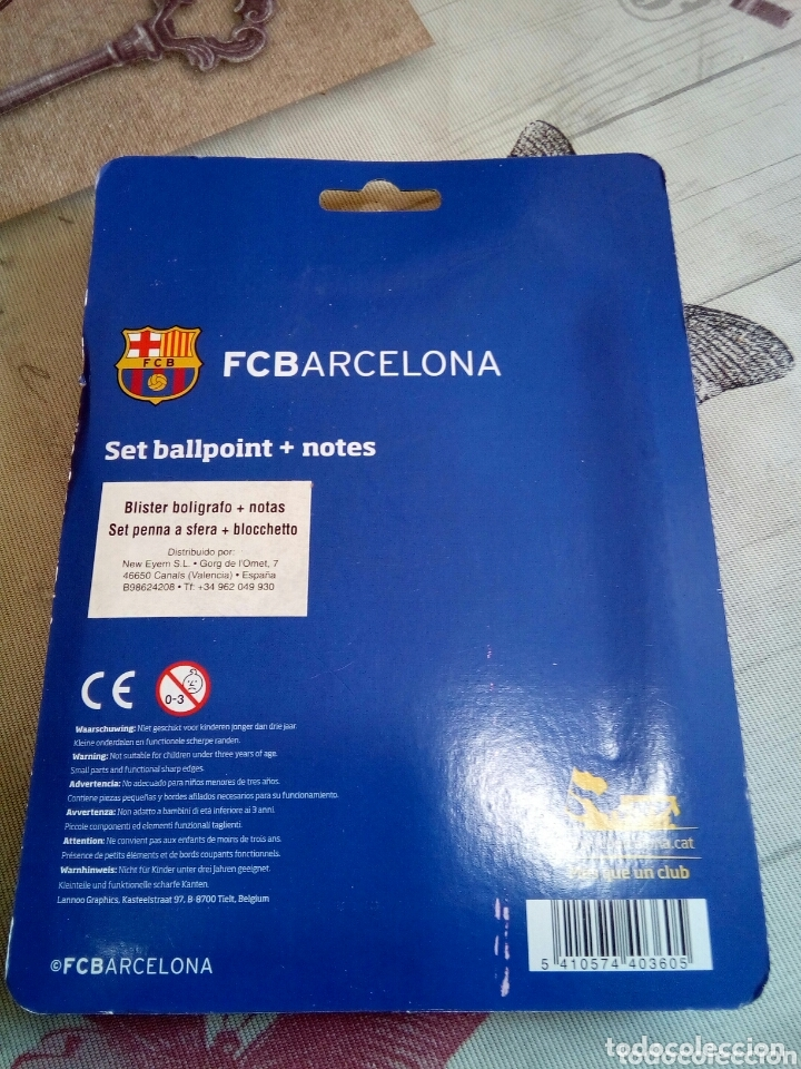 Coleccionismo deportivo: BLISTER BOLÍGRAFO+NOTAS F.C.BARCELONA - Foto 2 - 173806924