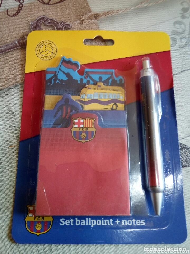 BLISTER BOLÍGRAFO+NOTAS F.C.BARCELONA (Coleccionismo Deportivo - Merchandising y Mascotas - Futbol)
