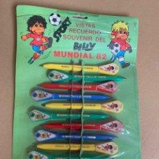 Coleccionismo deportivo: LOTE BOLÍGRAFOS VISTAS MUNDIAL 82. Lote 173959433