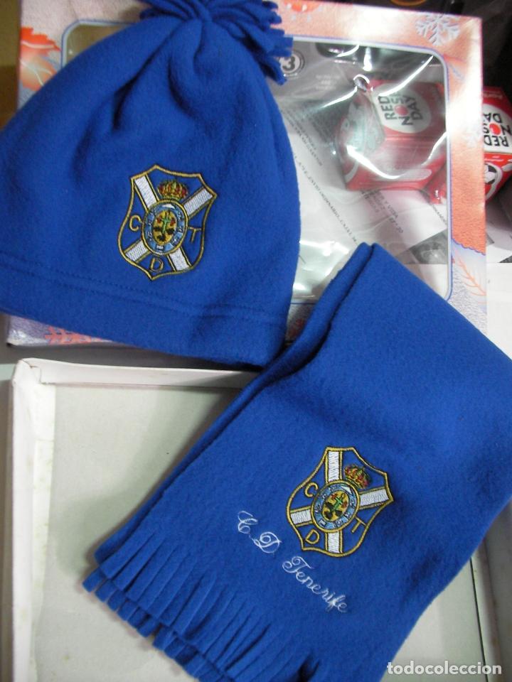 GORRA Y BUFANDA DEL CLUB DEPORTIVO TENERIFE EN SU CAJA NUEVO SIN USAR (Coleccionismo Deportivo - Merchandising y Mascotas - Futbol)