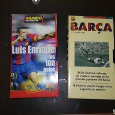 Coleccionismo deportivo: LOTE DE 2 VHS DEL F.C. BARCELONA. Lote 174928733
