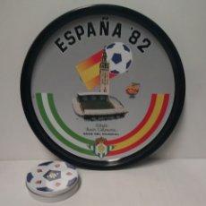 Coleccionismo deportivo: BANDEJA Y POSAVASOS MUNDIAL 82 ESTADIO BENITO VILLAMARIN REAL BETIS. Lote 175021577