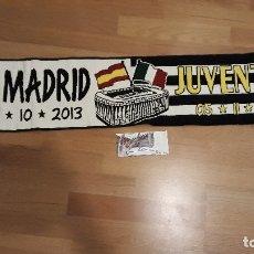 Coleccionismo deportivo: BUFANDA REAL MADRID FRENTE A JUVENTUS, 2013. Lote 175363633