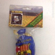 Coleccionismo deportivo: ANTIGUO RARO AMBIENTADOR FUTBOL CLUB BARCELONA TETRACAMPEONES. Lote 175728722