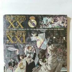 Coleccionismo deportivo: LAS MONEDAS OFICIALES DEL REAL MADRID DEL SIGLO XX AL SIGLO XXI AS FALTAN 3 MONEDAS. Lote 176103844