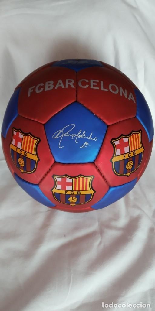 BALON JOSMA MERCHANDISING BARÇA AÑO 2000 CON FIRMAS Y LOGOS SERIGRAFIADOS,NUEVO, RONALDINHO (Coleccionismo Deportivo - Merchandising y Mascotas - Futbol)