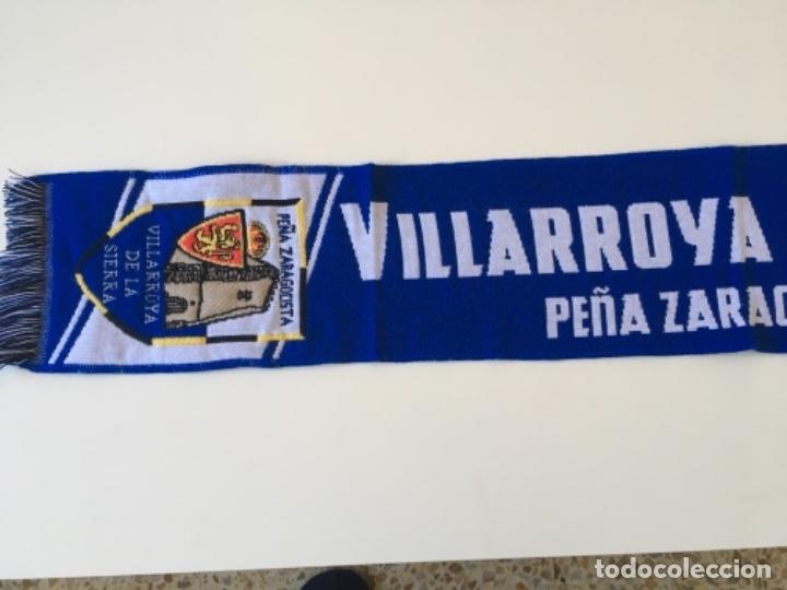 Coleccionismo deportivo: BUFANDA FUTBOL SCARF REAL ZARAGOZA Peña Villarroya de la Sierra ... ZKR - Foto 2 - 176332800