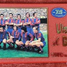 Coleccionismo deportivo: PLACA DEL 75 ANIVERSARIO DEL BARÇA. LIGA 1973-74. RESINA. 1974. . Lote 176809117