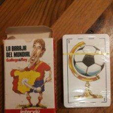 Coleccionismo deportivo: LA BARAJA DEL MUNDIAL - VIÑETAS DE GALLEGO&REY - MUNDIAL 2006-INTERVIU. Lote 176866708
