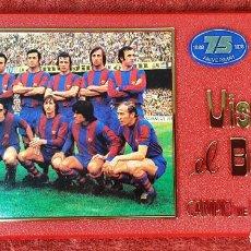 Coleccionismo deportivo: PLACA DEL 75 ANIVERSARIO DEL BARÇA. LIGA 1973-74. RESINA. 1974.. Lote 176886267