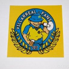 Coleccionismo deportivo: PEGATINA VILLARREAL CLUB DE FUTBOL. VILLARREAL FANS 2017. 9X 9 CM APROX. VER FOTOS PARA VER DETALLES. Lote 176997459