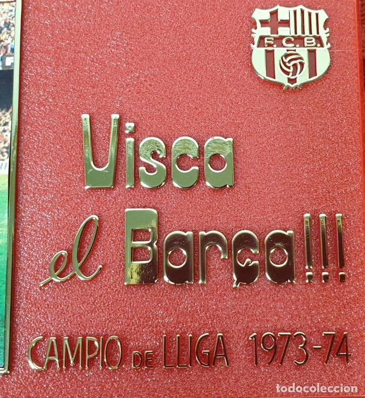 Coleccionismo deportivo: PLACA DEL 75 ANIVERSARIO DEL BARÇA. LIGA 1973-74. RESINA. 1974. - Foto 3 - 177479517