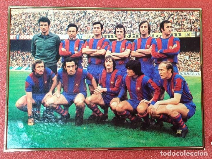 Coleccionismo deportivo: PLACA DEL 75 ANIVERSARIO DEL BARÇA. LIGA 1973-74. RESINA. 1974. - Foto 4 - 177479517