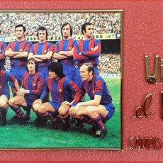 Coleccionismo deportivo: PLACA DEL 75 ANIVERSARIO DEL BARÇA. LIGA 1973-74. RESINA. 1974.. Lote 177479517