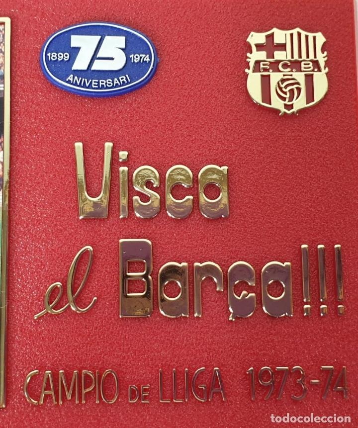 Coleccionismo deportivo: PLACA DEL 75 ANIVERSARIO DEL BARÇA. LIGA 1973-74. RESINA. 1974. - Foto 3 - 177565127