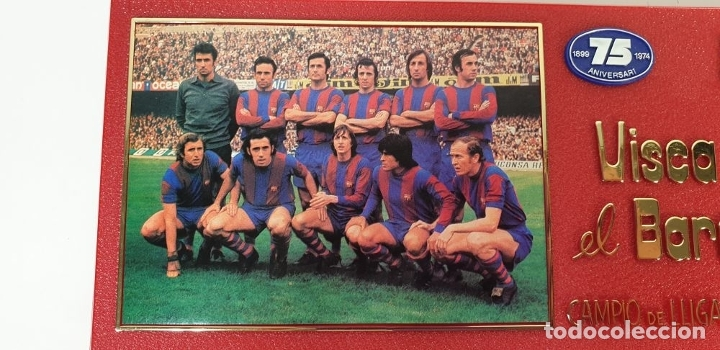 Coleccionismo deportivo: PLACA DEL 75 ANIVERSARIO DEL BARÇA. LIGA 1973-74. RESINA. 1974. - Foto 4 - 177565127
