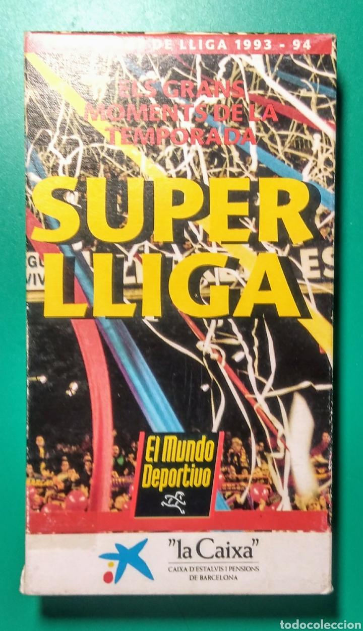 VÍDEO VHS. SUPER LLIGA BARÇA. 1993-94. (Coleccionismo Deportivo - Merchandising y Mascotas - Futbol)