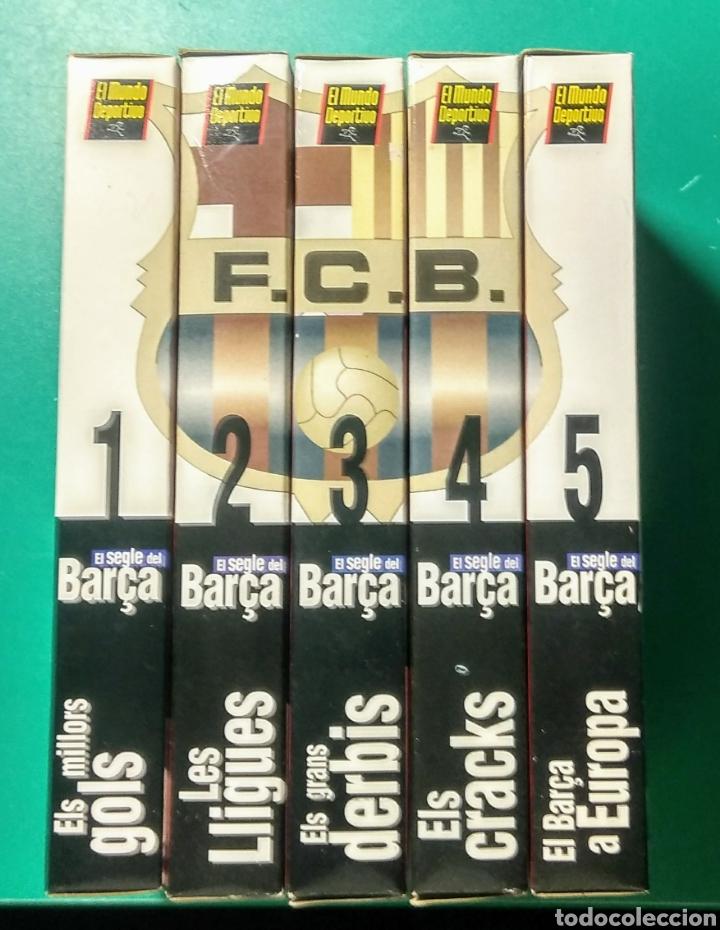 5 VÍDEOS VHS. EL SEGLE DEL BARÇA. 1997. (Coleccionismo Deportivo - Merchandising y Mascotas - Futbol)