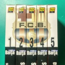 Coleccionismo deportivo: 5 VÍDEOS VHS. EL SEGLE DEL BARÇA. 1997.. Lote 177684837