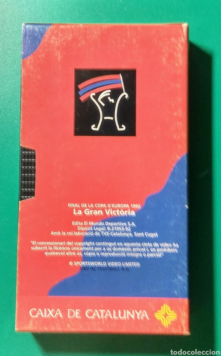 VIDEO VHS. LA GRAN VICTORIA. 1992. (Coleccionismo Deportivo - Merchandising y Mascotas - Futbol)