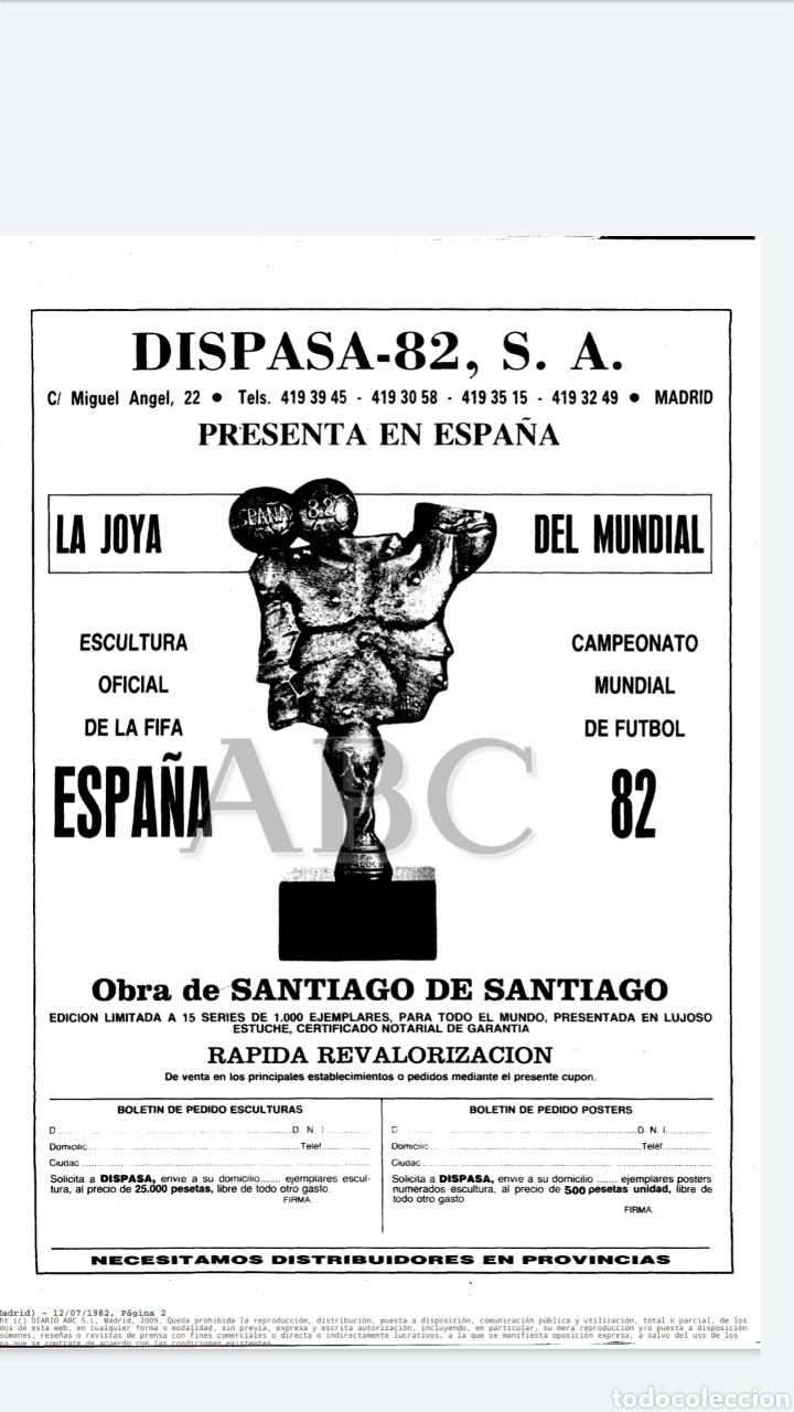 Coleccionismo deportivo: ESCULTURA OFICIAL DE LA FIFA DEL MUNDIAL DE FÚTBOL España 82 Obra de SANTIAGO DE SANTIAGO En bronce - Foto 13 - 177962712