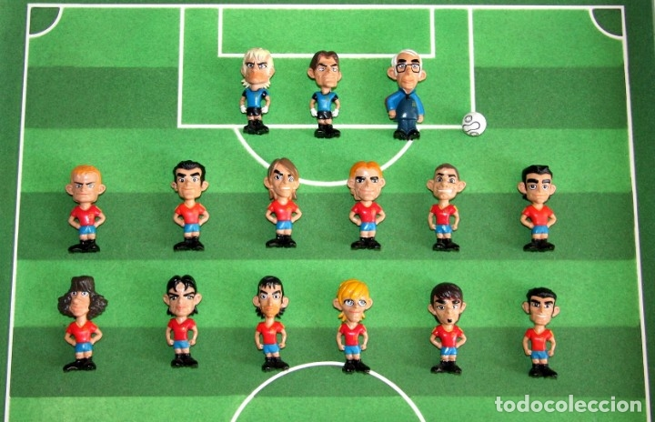 SPANISTOON - 15 FIGURAS SELECCIÓN ESPAÑOLA + BALÓN - COLECCIÓN MARCA - MUNDIAL ALEMANIA 2006 (Coleccionismo Deportivo - Merchandising y Mascotas - Futbol)