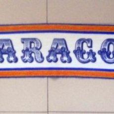 Coleccionismo deportivo: BUFANDA ANTIGUA FÚTBOL REAL ZARAGOZA SERIGRAFIADA AÑOS 80 SPANISH FOOTBALL VINTAGE. Lote 210693277