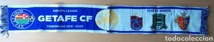 BUFANDA GETAFE CLUB DE FÚTBOL FASE GRUPO UEFA EUROPA LEAGUE 2019-2020 TRABZONSPOR BASILEA KRASNODAR (Coleccionismo Deportivo - Merchandising y Mascotas - Futbol)