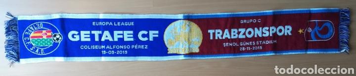 ESPAÑA BUFANDA OFICIAL ORIGINAL GETAFE CLUB DE FÚTBOL TRABZONSPOR UEFA EUROPA LEAGUE 2019-2020 (Coleccionismo Deportivo - Merchandising y Mascotas - Futbol)