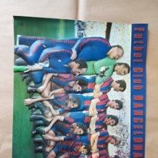 Coleccionismo deportivo: CARTEL PLASTICO RELIEVE DIMENSIONAL PAGSA COLECCION PERLA F.C. BARCELONA FUTBOL. Lote 179190222