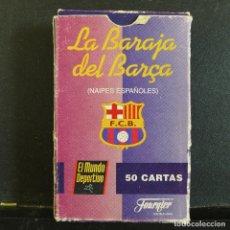 Coleccionismo deportivo: LA BARAJA DEL BARÇA DE FOURNIER PUBLICIDAD DE MUNDO DEPORTIVO COMPLETA. Lote 180032845