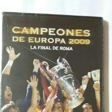 Coleccionismo deportivo: DVD PRECINTADO CAMPEONES DE EUROPA 2009 LA FINAL DE ROMA F.C.BARCELONA BARÇA FCB. Lote 180043501