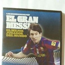 Coleccionismo deportivo: DVD PRECINTADO LOS HOMBRES DE PEP / EL GRAN MESSI EL MEJOR JUGADOR DEL MUNDO 2009 2010 /PUBLICO. Lote 180146301
