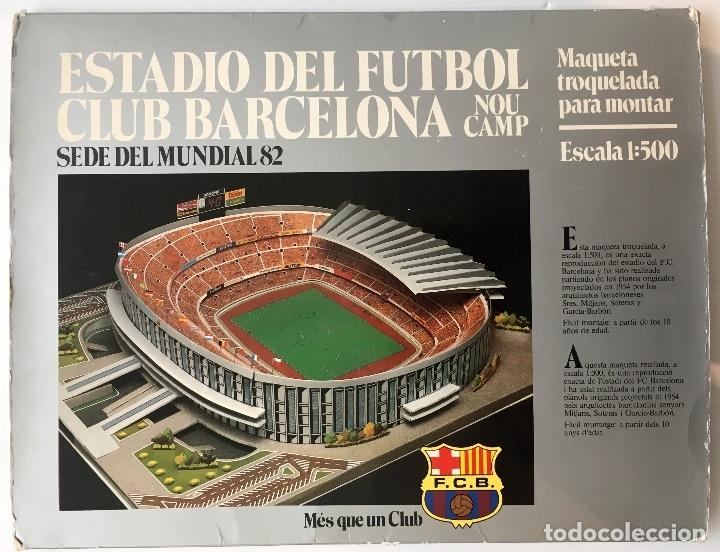 F. C. BARCELONA. NOU CAMP. EDICIONES MINOS, 1981. MAQUETA PARA MONTAR ESCALA 1:500. (Coleccionismo Deportivo - Merchandising y Mascotas - Futbol)