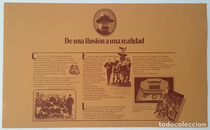 Coleccionismo deportivo: F. C. BARCELONA. NOU CAMP. EDICIONES MINOS, 1981. MAQUETA PARA MONTAR ESCALA 1:500. - Foto 3 - 180222533