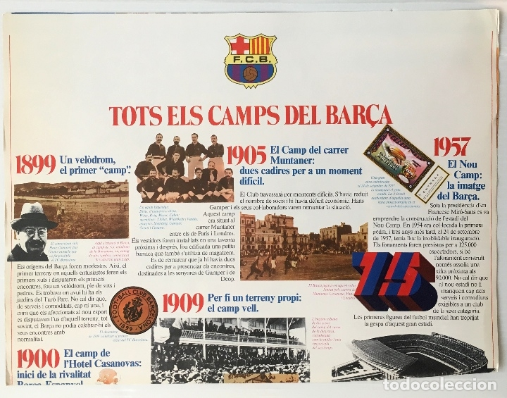 Coleccionismo deportivo: F. C. BARCELONA. NOU CAMP. EDICIONES MINOS, 1981. MAQUETA PARA MONTAR ESCALA 1:500. - Foto 4 - 180222533