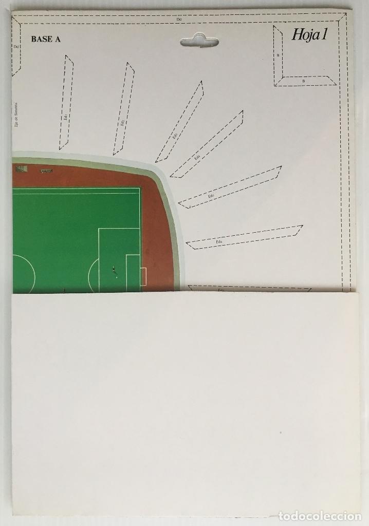 Coleccionismo deportivo: F. C. BARCELONA. NOU CAMP. EDICIONES MINOS, 1981. MAQUETA PARA MONTAR ESCALA 1:500. - Foto 5 - 180222533