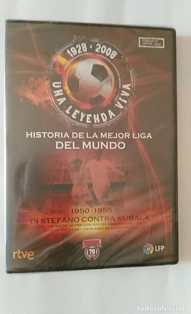 DVD PRECINTADO 1928 2008 UNA LEYENDA VIVA /1950 1955 DI STEFANO CONTRA KUBALA / MARCA 70 (Coleccionismo Deportivo - Merchandising y Mascotas - Futbol)