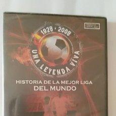 Coleccionismo deportivo: DVD PRECINTADO 1928 2008 UNA LEYENDA VIVA /1950 1955 DI STEFANO CONTRA KUBALA / MARCA 70. Lote 180286330