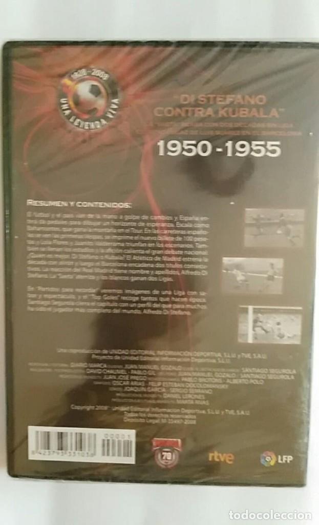 Coleccionismo deportivo: DVD PRECINTADO 1928 2008 UNA LEYENDA VIVA /1950 1955 DI STEFANO CONTRA KUBALA / MARCA 70 - Foto 2 - 180286330