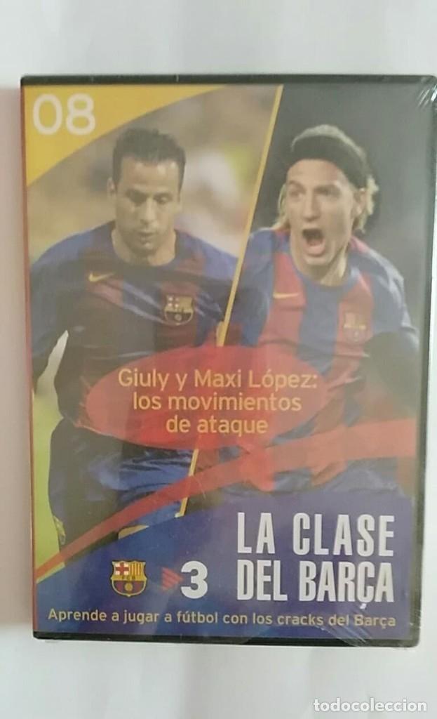 DVD PRECINTADO LA CLASE DEL BARÇA Nº08 GIULY Y MAXI LOPEZ: LOS MOVIMIENTOS DE ATAQUE F.C.B (Coleccionismo Deportivo - Merchandising y Mascotas - Futbol)