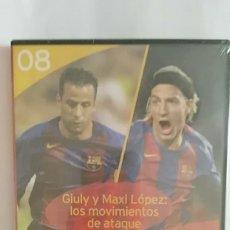 Coleccionismo deportivo: DVD PRECINTADO LA CLASE DEL BARÇA Nº08 GIULY Y MAXI LOPEZ: LOS MOVIMIENTOS DE ATAQUE F.C.B. Lote 180287310