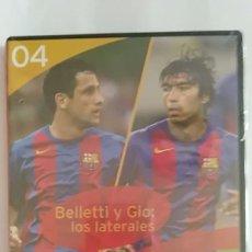 Coleccionismo deportivo: DVD PRECINTADO LA CLASE DEL BARÇA Nº04 BELLETTI Y GIO: LOS LATERALES F.C.B. Lote 180287766