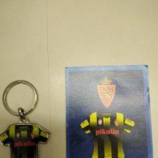 Coleccionismo deportivo: LLAVERO CAMISETA REAL ZARAGOZA RÉPLICA COPA DEL REY 2004 GALLETI MONJUIC. Lote 180432640