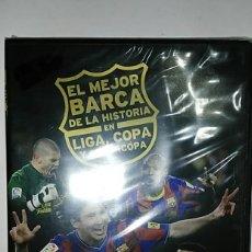 Colecionismo desportivo: DVD PRECINTADO EL MEJOR BARÇA DE LA HISTORIA EN LIGA,COPA Y SUPERCOPA. PRODUCTO OFICIAL . Lote 181615336
