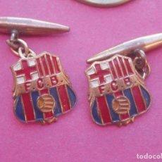 Coleccionismo deportivo: GEMELOS ANTIGUOS ESCUDO AÑO 1920 FUTBOL CLUB FC BARCELONA FCB. MUY DIFÍCILES Y RAROS.. Lote 182083933