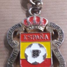 Coleccionismo deportivo: MUNDIAL FÚTBOL ESPAÑA 82 NARANJITO LLAVERO COMITE ORGANIZADOR. Lote 182276816